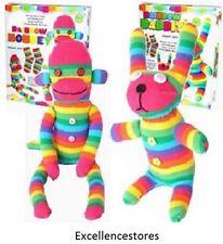 Craft Cupboard Make Your Own Rainbow Sock Monkey Children Craft Kit easy to make