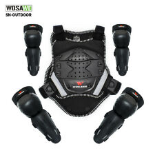 Youth Motorbike Chest Protector Armor Vest Skiing Dirtbike Knee Elbow Pads Guard