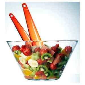 High Quality Serving Fruit Salad Bowl Kitchen Deep Food Glass Dish Plate - 28cm