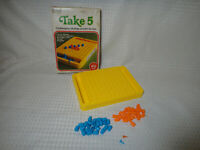 Vintage 1977 Take 5 Strategy Peg Game by Gabriel Complete