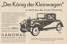 Y4357 Automobile HANOMAG Kabriolett - Pubblicità d'epoca - 1929 Old advertising