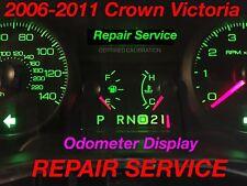 REPAIR SERVICE 2011 Ford Crown Victoria CVPI Gauge Cluster Odometer Display 11