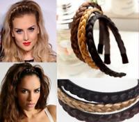Fashion Handmade Twisted Wig Braid Hair Band Braided Headband Hair Accessories