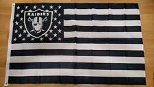Oakland Raiders 3x5 American Flag. US seller. Free shipping within the US!!!