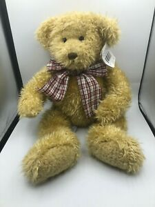 Official Mary Meyer Fritz 1996 Brown Teddy Bear Bow Tie Plush Stuffed Toy Animal