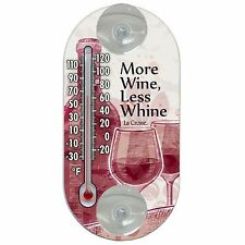 "204-154C La Crosse 4"" Indoor/Outdoor Window Thermometer - More Wine"