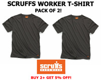 Scruffs Worker T-Shirt T Shirt Scruffs Work Top Graphite XL Workwear 2 PACK