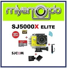 SJCAM Original SJ5000X WiFi Action Camera (Yellow)+Monopod+16GB+ Battery+Charger
