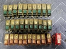 AMI I 200 Jukebox Pushbutton Set I-200 I200 juke box 1958 I120 I-120 I 120 green