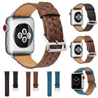 iWatch Soft Leather Band Strap Buckle Bracelet For Apple Watch 38/42mm 40/44mm