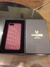 Hadoro iPhone 7 case alligator Bordeaux dark red