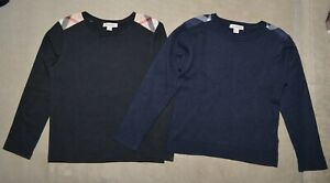 Lot of 2 Burberry Wool Sweater Cotton Long sleeve nova check size 8Y 126CM