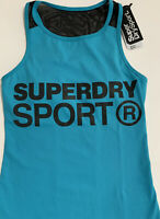 bnwt superdry Active Sport Top Blue/black Uk8