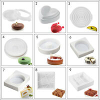 3D White Mousse Ice Creams Cake Pastry Desserts Silicone Mould Trays Food Grade
