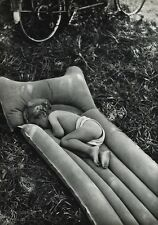 1955 Vintage 16x20 MARNE BABY Sleeping Raft France Art ~ ROBERT DOISNEAU Bresson