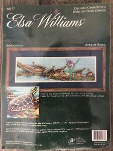 "Elsa Williams / Carol Decker ""Suncatchers"" Counted Cross Stitch Kit Turtles NEW"