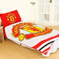 Manchester United 'Pulse' Single Duvet Cover and Pillowcase Set