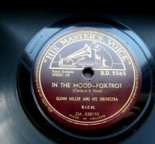 1341/ GLENN MILLER-In the mood-KULT- Out of space-SWING-78rpm Schellack