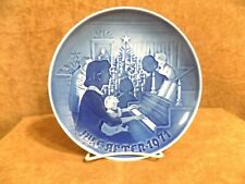 """Royal Copenhagen Collector Plate """"Christmas At Home"""""""" 1971 Artist Signed"""