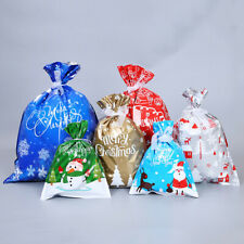 Large Drawstring Christmas Gift Bag Candy Bags Party Cookie Gifts Wrapping Pouch