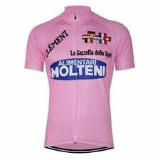 1973 Eddy Merckx Pink Molteni Retro Cycling Jersey Short Sleeve Pro Clothing Bik