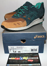 Asics Gel Lite 3 III Lies X Concept Green Gold Brown Sneakers Men's Size 12 New