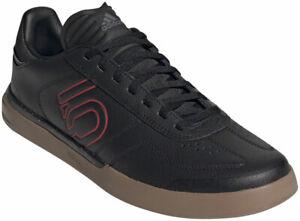 Five Ten Sleuth DLX PU Men's Flat Shoe: Black/Scarlet/Gum 10.5