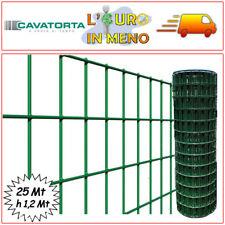 RETE ZINCATO ELETTROSALDATO PVC CAVATORTA MAGLIA 50X75 ROTOLO 25 MT H 1,20 MT