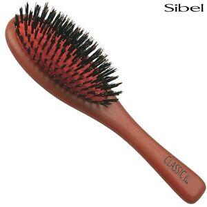Sibel Professional Cushioned OVAL Paddle Hair Brush - BOAR BRISTLE Classic 44