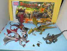 Mega Bloks Dragons Krystal Wars 9885 Marauders Cliff Green Dragon Lot Parts