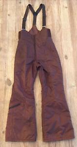 Vintage 1970's Women's Suzy Chaffee Olympic Ski Bib Pants Size 12 BROWN