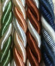braid soft furnishings trim rope 3mm Twisted Cord 2//3 tone piping
