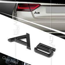 GLOSS BLACK A5 REAR BOOT TRUNK LOGO LETTER EMBLEM BADGE FOR AUDI QUATTRO S LINE