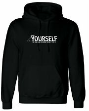 Push Yourself, Personalised Hoodie Custom Hooded Men T Shirt Top Design