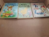 Vintage children's books lot of 3 animals and rhymes