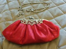 Stunning Frank Usher Vintage Bag With detachable Strap ~ Immaculate ~ Red Silver