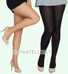 PLUS SIZE TALL tights pantyhose sheer opaque EXTRA LONG 16 18 20 22 24 XL 2X 3X