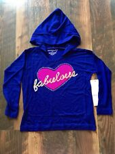 Size 2T purple Nwt Sparkle Sequin Fabulous Hooded top by Design 365