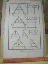 Vintage Print,CHARPENTE,Diderot Occupations,Machinery,c1770-80
