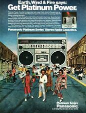 1970s vintage AD PANASONIC Radio Cassette Player w/ Earth Wind and Fire  090819
