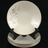 """Set of 4 VTG Berry Bowls 5 1/2"""" by Edwin Knowles Kalla Designs Pink Teal Floral"""