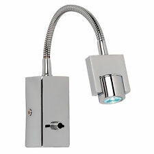 Endon EL-10040 LED Modern Wall Light Chrome IP20 Rated (Switched)