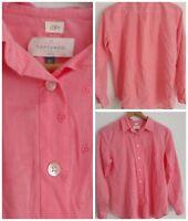 Ann Taylor Loft Blouse The Softened M Shirt NWOT Peach Button Down Long Sleeve