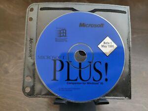 "ULTRA RARE: Microsoft PLUS! ""Companion for Windows 95"" Beta 1 CD"