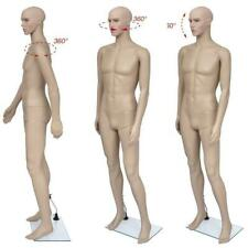 Man Use Male Full Body Realistic Mannequin Display For Dress Form With Base