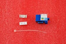 QTY OF 100 RJ45 ETHERNET CONNECTORS MODULAR 8-CONDUCTOR CABLE CAT5e NEW #T107