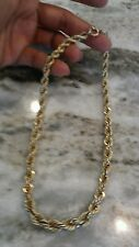 Nice vintage 12k gold filled graduated rope chain necklace  54 g