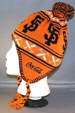 san francisco giants two flaps knit orange cap sga