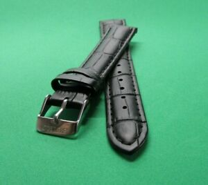 NEW SEIKO LEATHER  WATCH BAND  BLACK REPLACEMENT 🖤 SIZE 18MM  SILVER CLASP