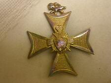 """Knights Templar Maltese Cross Pin Brooch Center 2"""" X 2 1/4"""" Not Marked"""